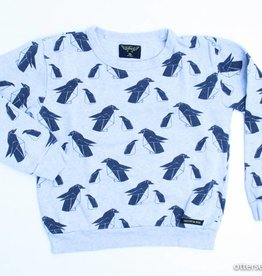 Finger in The nose Grijze sweater pinguins, FITN - 128/134