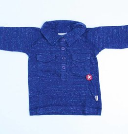 Kik Kid Blauwe longsleeve polo, Kik Kid - 98