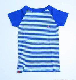 Albakid Blauw gestreepte T - Shirt, Albakid - 140