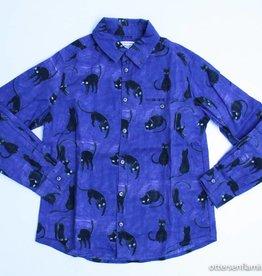 Morley Blauw hemd poezen, Morley - 104