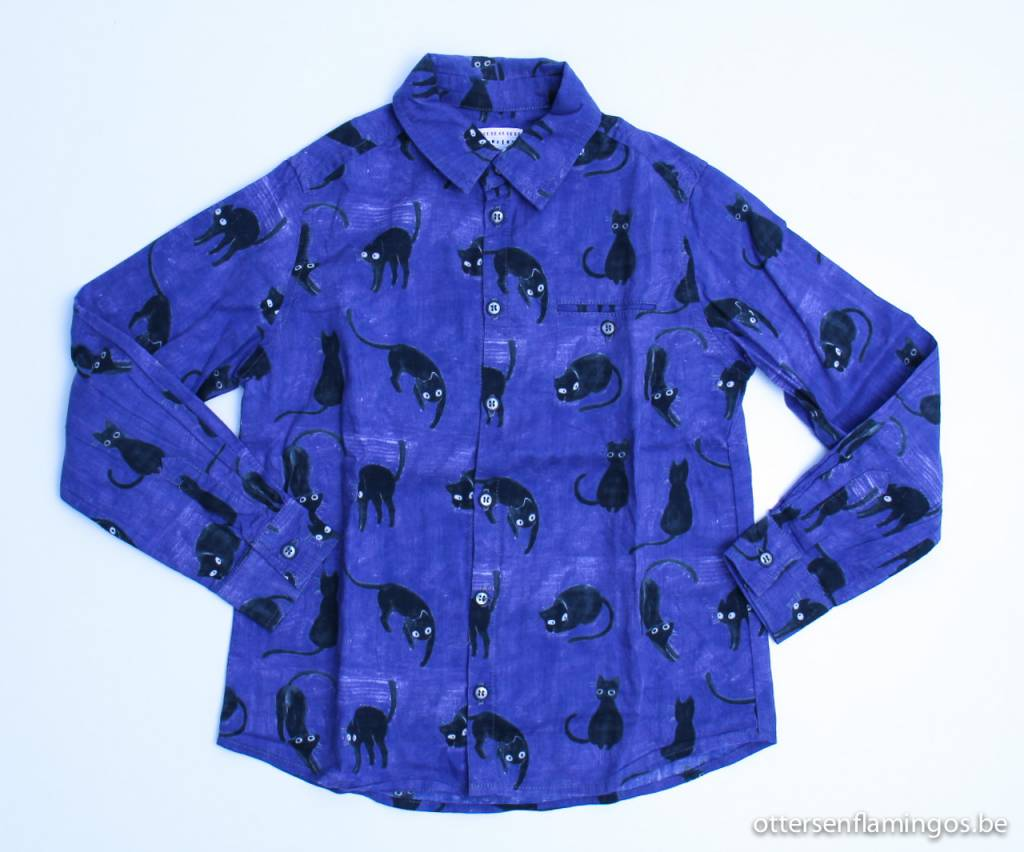 Morley art.nr. KADA005 Blauw hemd poezen, Morley - 104