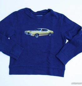 Borz Blauwe sweater auto, Borz - 110/116