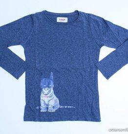 Maan Grijze longsleeve T - Shirt, Maan - 116