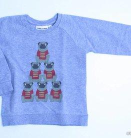 Mini Rodini Grijze sweater honden, Mini Rodini - 92/98