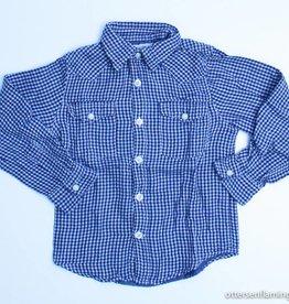 Simple Kids Groen geruit hemd, Simple Kids - 92
