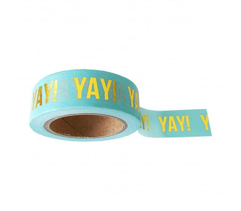 Washi tape mint Yay, per 9 rolls