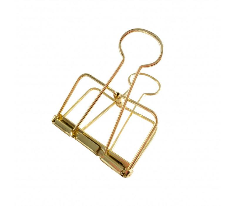 Binder clips Gold XL, per 4 boxes