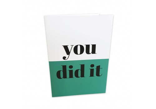 Studio Stationery Greeting card You did it, per 5 stuks