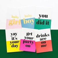 Greeting card Drinks are on me, per 5 pieces