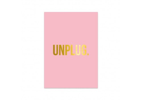 Studio Stationery Card Unplug, per 5 pieces