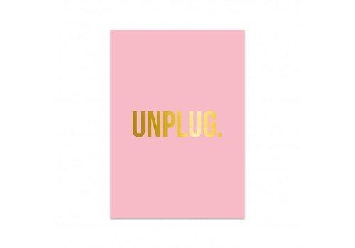 Studio Stationery Kaart Unplug, per 5 stuks
