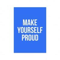 Kaart Make yourself proud, per 5 stuks