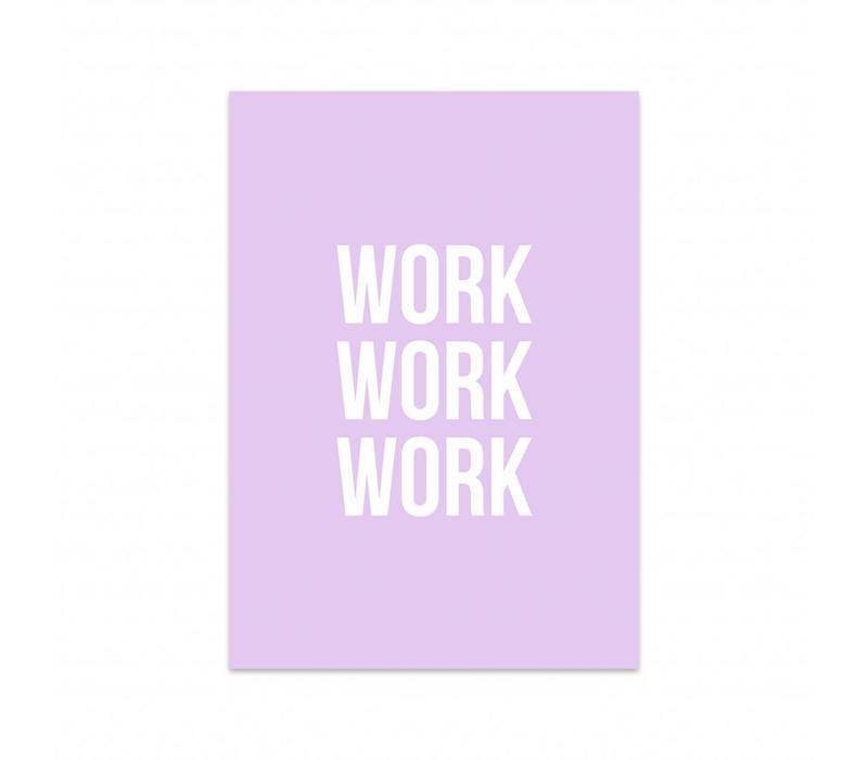 Kaart Work work work, per 5 stuks