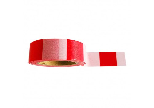 Studio Stationery Washi tape Pink red, per 9 pieces