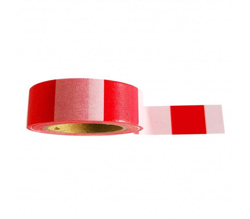 Washi tape Pink red, per 9 stuks