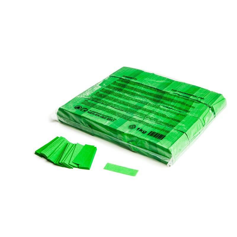 Magic FX Slowfall confetti 55x17 mm - 1kg - Vert Clair