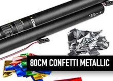 80 cm Confetti Metallic