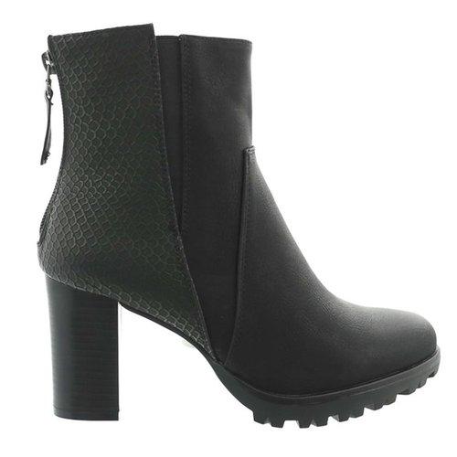 Croco Heels Black