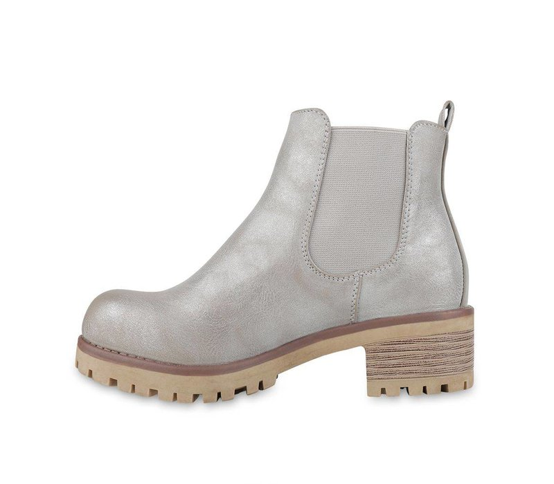 Low grey boots