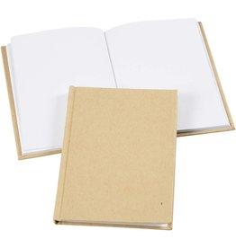 Notitieboek Blanco, A6 10,5x15 cm, dikte 8 mm, bruin, 1stuk
