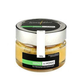 honeyfaktur - Honig aus dem bergischen Lande Minze in Honig, 100gr.