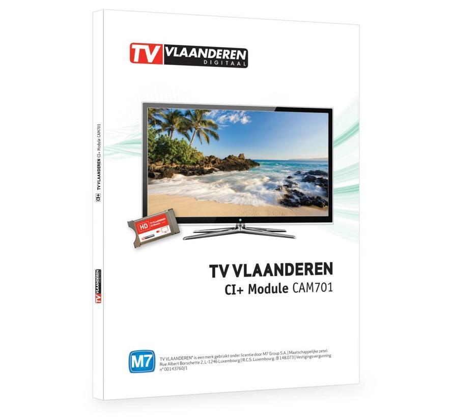TV Vlaanderen CAM-701 CI+ module incl. ingebouwde smartcard