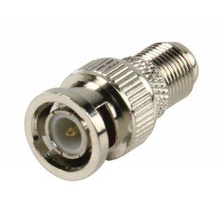 verloop F-connector female naar BNC plug male