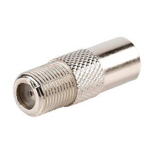 verloop F-connector female naar IEC male