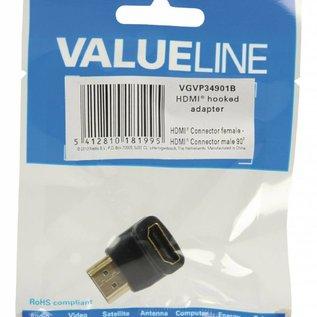 HDMI-adapter haaks 90° graden gehoekt
