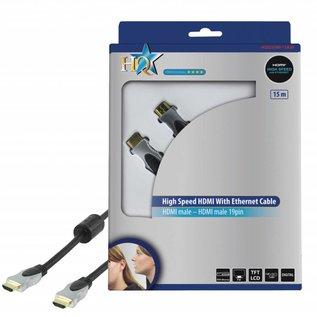 HDMI kabel Hoge kwaliteit High Speed met ethernet 15.0 m