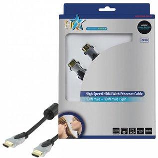 HDMI kabel Hoge kwaliteit High Speed met ethernet 20.0 m