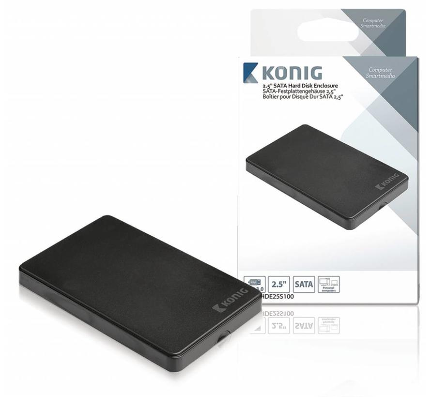 "Konig 2.5"" SATA harde schijf-behuizing USB 3.0"