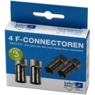 Technetix SPP-12 push on F-connector (set van 4)