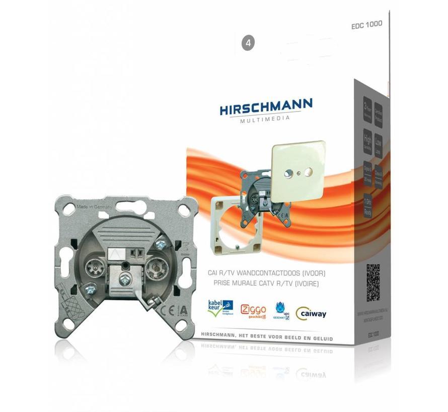 Hirschmann EDC 1000 shop Wandcontactdoos RTV