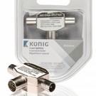 Konig Konig Coax T-Splitter metaal 5-900Mhz