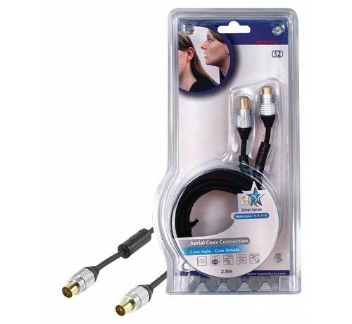 Hoge kwaliteit coax kabel 2,50 m