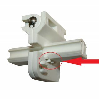Travel Vision R6 spare part Scharnier geribbeld LNB Arm