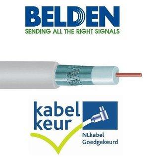 Belden H125D00 coax DuoBond PVC met Kabelkeur kleur wit