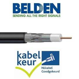 Belden H125D00 coax DuoBond zwart