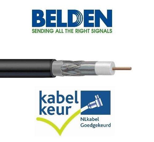 Belden Belden H125D00 coax DuoBond PVC met Kabelkeur kleur zwart