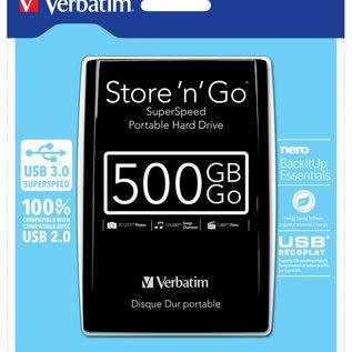 "Verbatim 500 GB externe harddisk 2.5 "" USB 3.0"