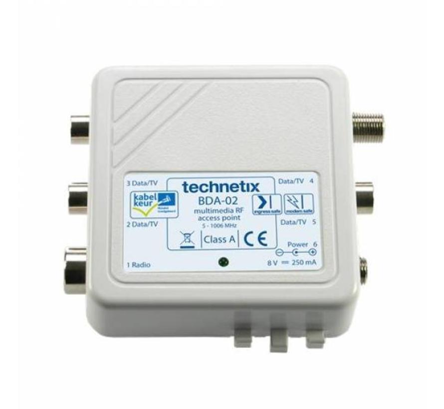 Technetix BDA-02 opdrukversterker Radio/TV