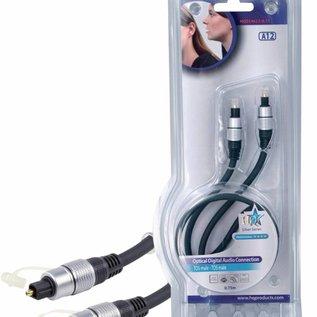 HQ Digitale Audiokabel TosLink Male - TosLink Male 0.75 m Donkergrijs