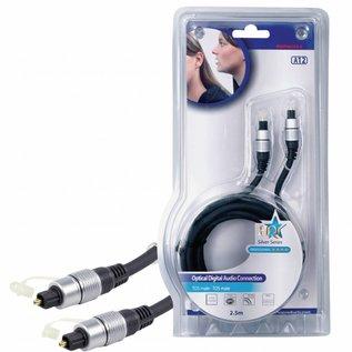 HQ Digitale Audiokabel TosLink Male - TosLink Male 2.5 m Donkergrijs