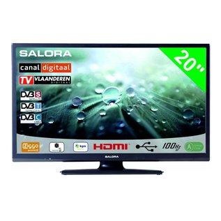 """Salora 20"""" LED 9109 DVB C/T/S-S2 CanalDigitaal 12-230V"""