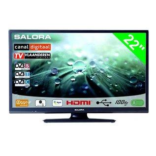 """Salora 22"""" LED 9109 DVB C/T/S-S2 CanalDigitaal 12-230V"""