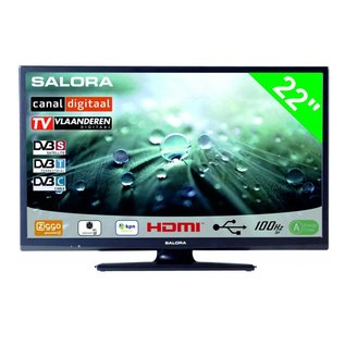 "Salora Salora 22"" LED 9109 DVB C/T/S-S2 CanalDigitaal 12-230V"