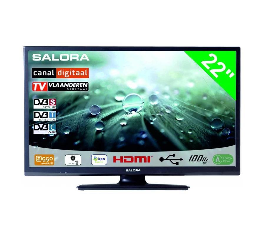"""Salora 22"""" LED 9109 DVB C/T(2)/S-S2 12-230V"""