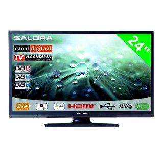"Salora Salora 24"" LED 9109 DVB C/T/S-S2 CanalDigitaal 12-230V"