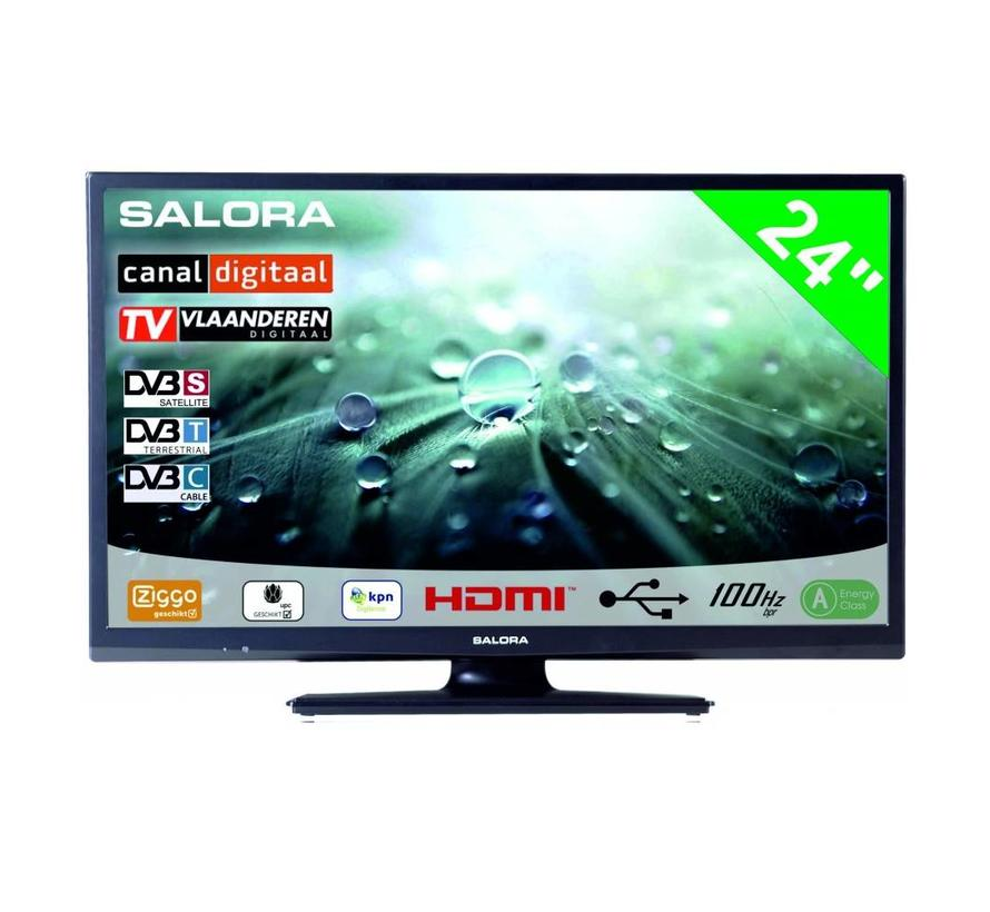 "Salora 24"" LED 9109 DVB C/T/S-S2 12-230V"
